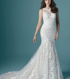 LEAH-maggie sottero-fit and flare wedding dress